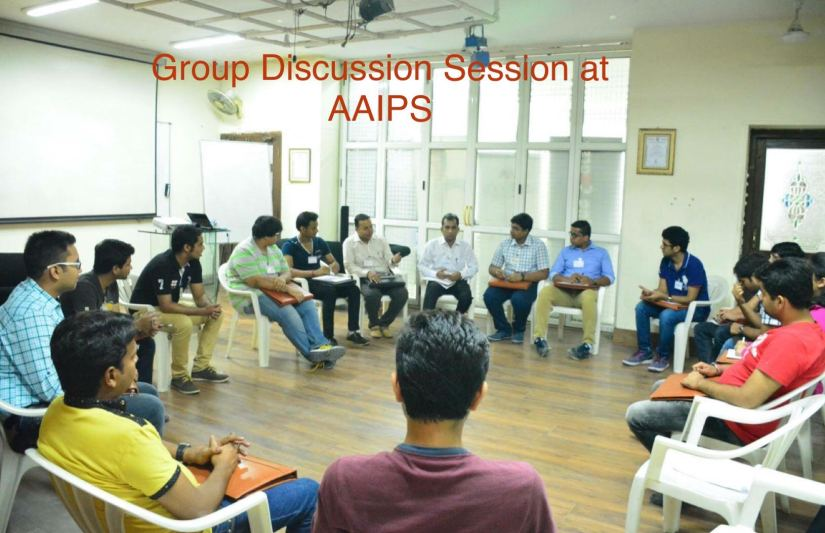 Group Discussion Session at Anurag Aggarwal Institute of Public Speaking