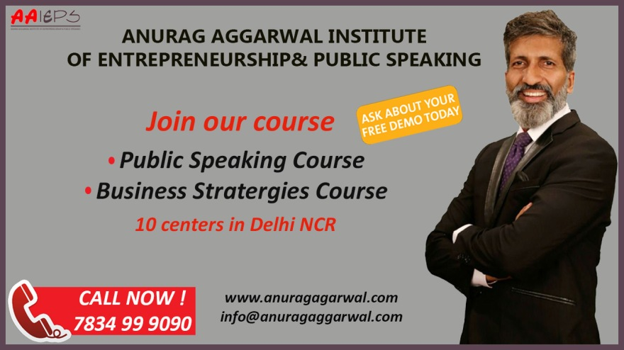 Free Demo at Anurag Aggarwal Institute of Public Speaking