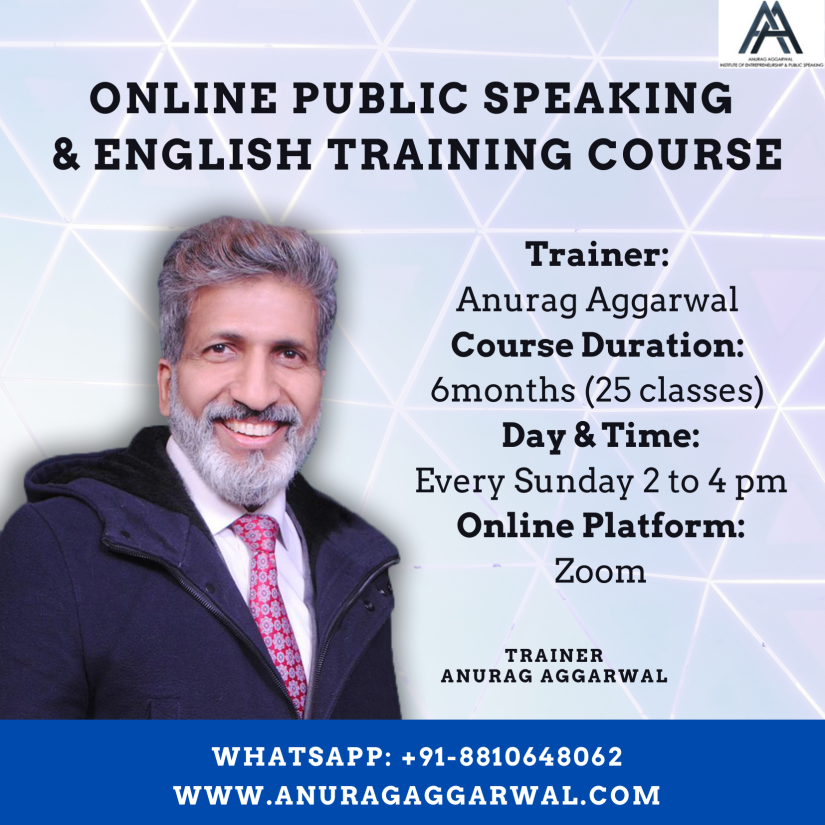 online-public-speaking course by Anurag Aggarwal